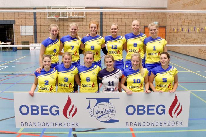 OBEG Donitas dames 1 volgend seizoen topdivisie